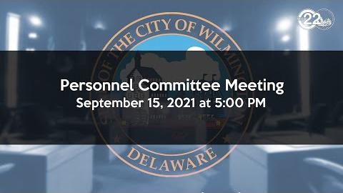 Personnel Committee Meeting  | 09/15/2021