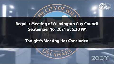 Regular Meeting of Wilmington City Council | 09/16/2021